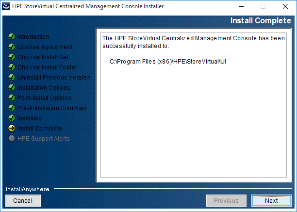 2018-08-21 14_42_28-HPE StoreVirtual Centralized Management Console Installer