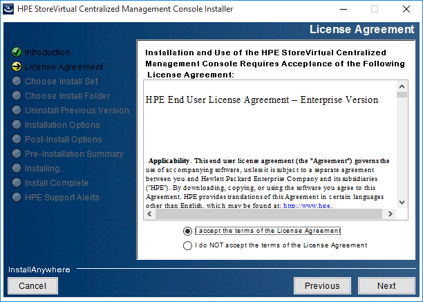 2018-08-21 14_41_35-HPE StoreVirtual Centralized Management Console Installer