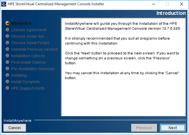 2018-08-21 14_41_32-HPE StoreVirtual Centralized Management Console Installer