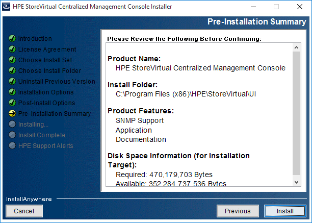 2018-08-21 14_41_54-HPE StoreVirtual Centralized Management Console Installer